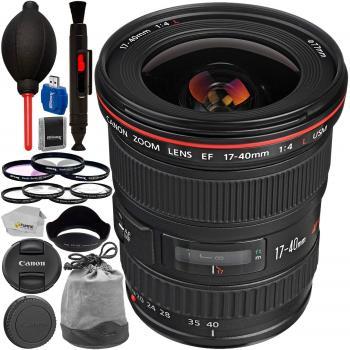 Canon EF 17-40mm f/4L USM Lens - 8806A002 with Advanced Accessory Bund
