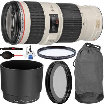 Canon EF 70-200mm f/4L IS USM Lens - 1258B002 with Starter Bundle