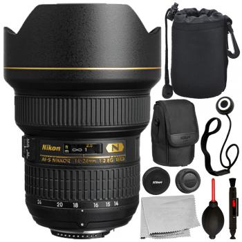 Nikon AF-S NIKKOR 14-24mm f/2.8G ED Lens - 2163 with Deluxe Bundle