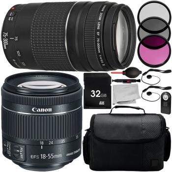 Canon EF-S 18-55mm f/4-5.6 IS STM - 1620C002 and EF 75-300mm f/4-5.6 I