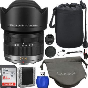 Panasonic Lumix G Vario 7-14mm f/4 ASPH. Lens - H-F007014 Starter Bund
