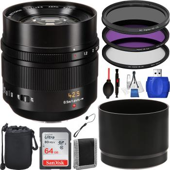Panasonic Leica DG Nocticron 42.5mm f/1.2 ASPH. POWER O.I.S. Lens - H-