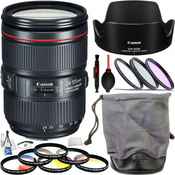 Canon EF 24-105mm f/4L IS II USM Deluxe Lens Bundle
