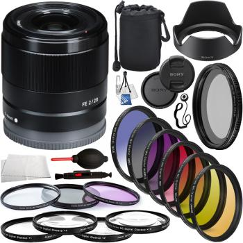 Sony FE 28mm f/2 Lens - SEL28F20 Professional Lens Bundle