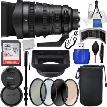 Sony FE PZ 28-135mm f/4 G OSS Lens - SELP28135G Must Have Bundle