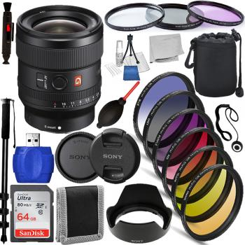Sony FE 24mm f/1.4 GM Lens - SEL24F14GM Must Have Bundle
