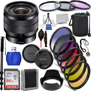 Sony E 10-18mm f/4 OSS Lens - SEL1018 Must Have Bundle
