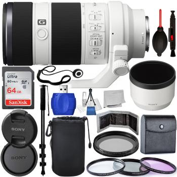 Sony FE 70-200mm f/4 G OSS Lens - SEL70200G Must Have Bundle