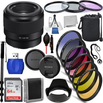 Sony FE 28mm f/2 Lens - SEL28F20 Must Have Bundle