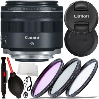 Canon RF 35mm f/1.8 IS Macro STM Lens - 2973C002 with Starter Accessor