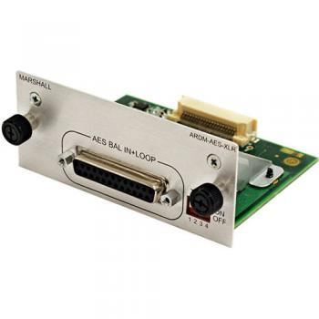 Marshall Electronics ARDM-AES-XLR Input Module for AR-DM2-L Audio Moni