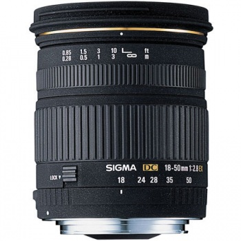 Sigma Zoom Super Wide Angle 18-50mm f/2.8 EX DC Macro Autofocus Lens for Canon Digital EOS