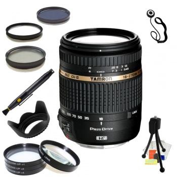 Tamron AF18-270mm f/3.5-6.3 Di II VC PZD AF Lens for Nikon Bundle