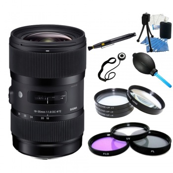 Sigma 18-35mm f/1.8 DC HSM Lens for Pentax + Accessory Bundle
