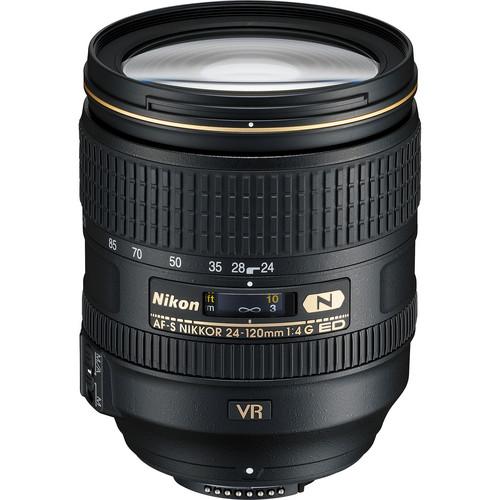 Nikon AF-S NIKKOR 24-120mm f/4G ED VR Zoom Lens (White Box)