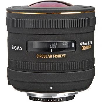 Sigma 4.5mm f/2.8 EX DC HSM Lens for Canon SLR Cameras