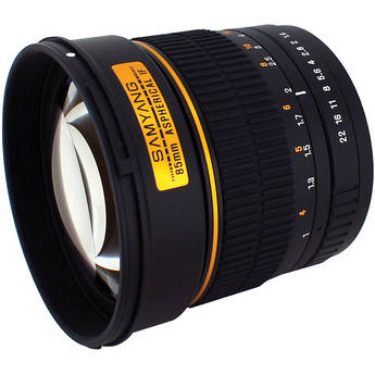 Samyang 85mm f/1.4 Aspherical IF Lens for Micro Four Thirds Mount Came