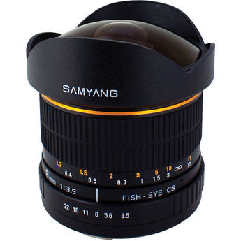Samyang 8mm Ultra Wide Angle f/3.5 Fisheye Lens for Olympus Mount