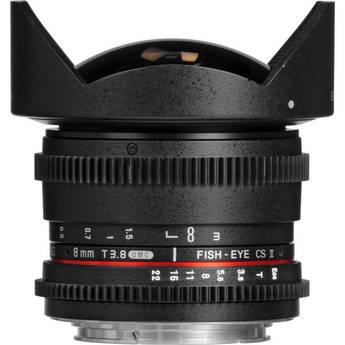 Samyang 8mm T3.8 UMC Fish-Eye CS II Lens (Nikon F Mount)