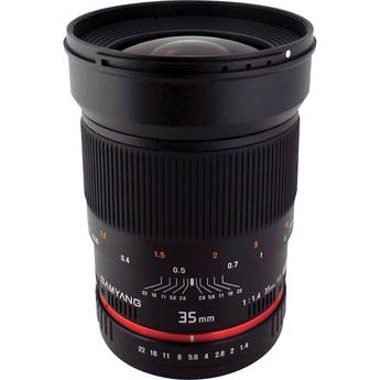 Samyang 35mm f/1.4 Wide-Angle US UMC Aspherical Lens for Micro Four Thirds