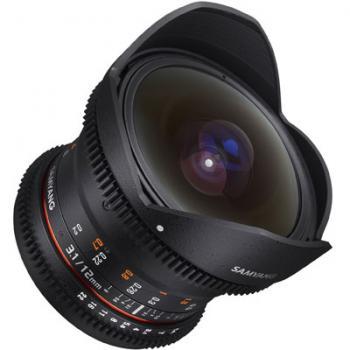 Samyang 12mm T3.1 ED AS NCS Fisheye VDSLR Lens - Canon