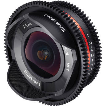 Samyang 7.5mm T3.8 UMC Fisheye Video Lens - Micro Four Thirds Fit
