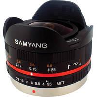 Samyang 7.5mm f/3.5 UMC Fisheye Micro Four Thirds Lens - Black