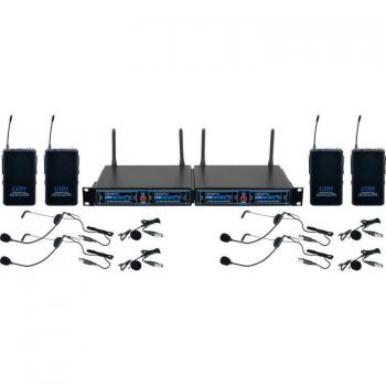VocoPro UDH-PLAY 4 - Four-Channel UHF/DSP Hybrid Bodypack Wireless Microphone Package