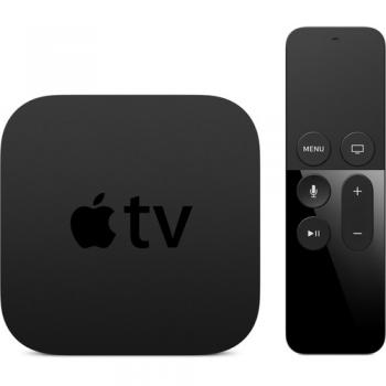 Apple TV Black (32GB, 4th Generation) 1080p Wireless Multimedia Streamer with Siri Remote Control - MGY52LL/A
