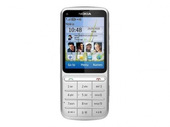 Nokia C3-01 Touch and Type (SIM Free/Unlocked, Silver)
