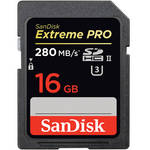 SanDisk 16GB Extreme PRO SDHC UHS-II Memory Card