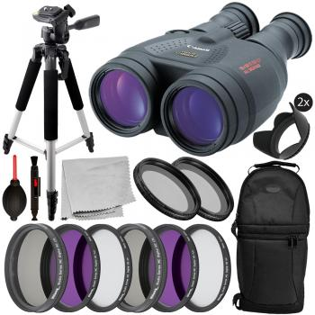 Canon 18x50 IS Image Stabilized Binocular - 4624A002 with Deluxe Bundl