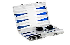 Rolling 66 18-Inch Lucite Deluxe Backgammon Set (Blue)