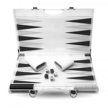 Rolling 66 13-Inch Lucite Deluxe Backgammon Set (Black)