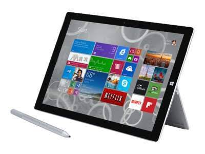 Microsoft 12-inch 128GB Surface Pro 3 Multi-Touch Tablet (Silver)