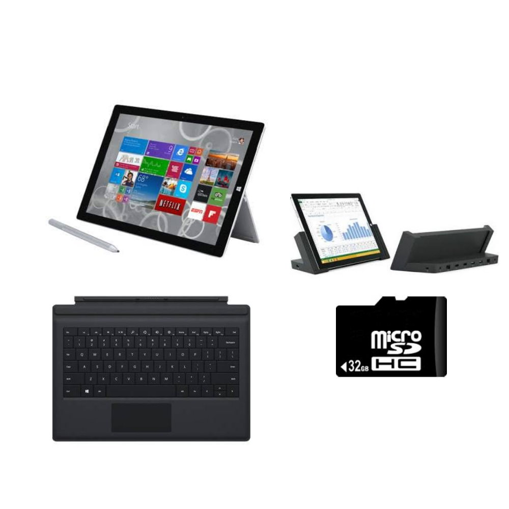 Microsoft Surface Pro 3 Intel Core i5 4GB 128GB Tablet + Full Accessory Bundle