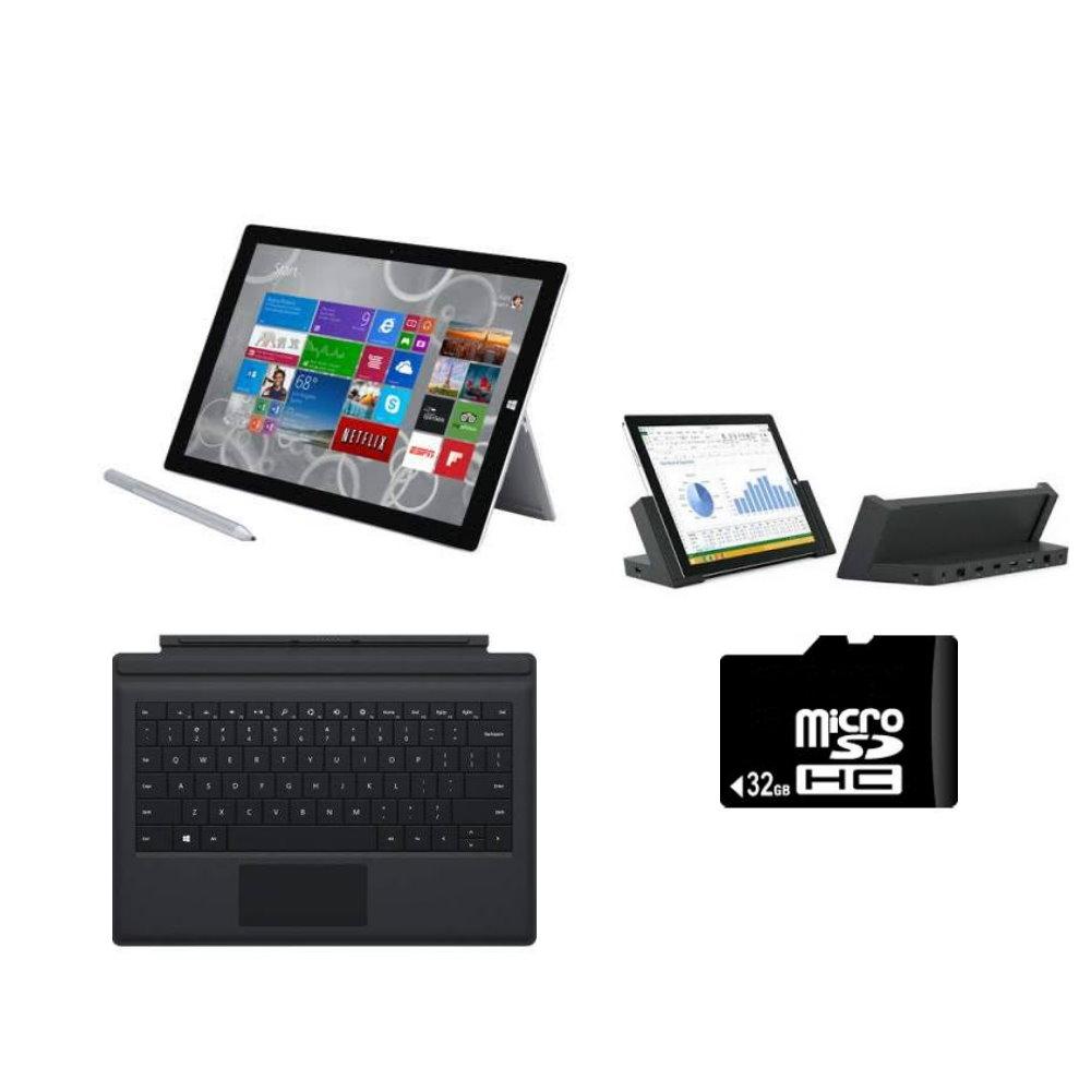 Microsoft Surface Pro 3 Intel Core i5 4GB 128GB Tablet + Full Accessor